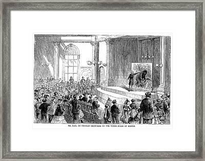 Paul Du Chaillu (1831-1903) Framed Print
