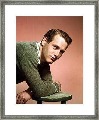 Paul Newman In The Late 1950s Framed Print by Everett