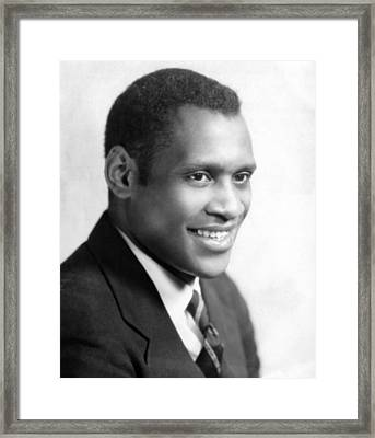 Paul Robeson, Ca. 1930s Framed Print by Everett