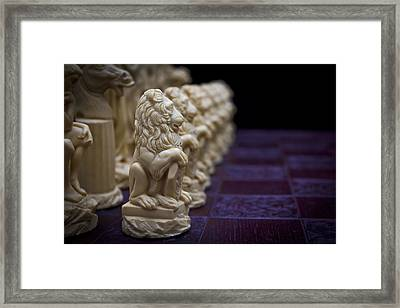 Pawns In A Row Framed Print by Doug Long