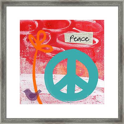 Peace Framed Print by Linda Woods