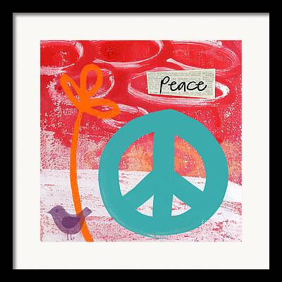 Abstract Peace Framed Prints