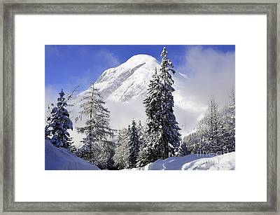 Peak In The Alps Framed Print