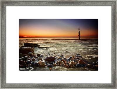 Pebbles Framed Print by Mark Leader