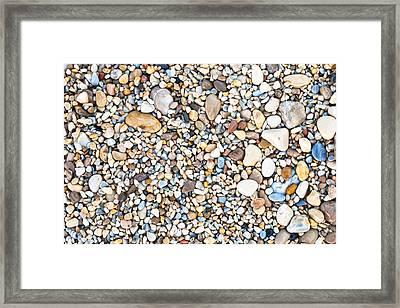 Pebbles Framed Print by Tom Gowanlock