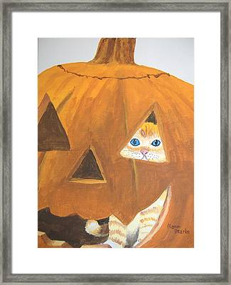 Framed Print featuring the painting Peekaboo by Norm Starks