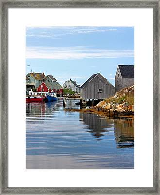 Peggys Cove Framed Print by Kristin Elmquist