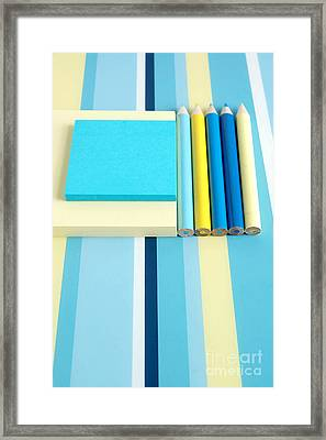 Pencils And Paper Framed Print