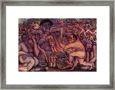 People Of Darkness Framed Print by Vladimir Feoktistov
