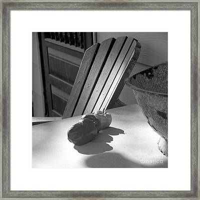 Peppers On The Stoop Framed Print