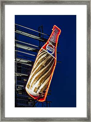 Pepsi Cola Bottle Framed Print