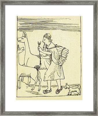 Peruvian Herder, 17th Century Framed Print by Science Source