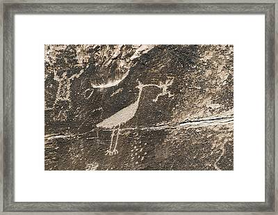 Petroglyphs From The Puerco People Framed Print by Rich Reid