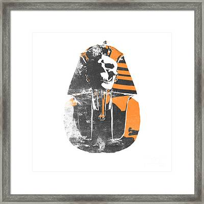 Pharaoh Stencil  Framed Print by Pixel  Chimp