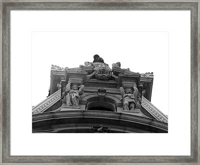 Philadelphia City Hall Looking Up Framed Print by Bill Cannon