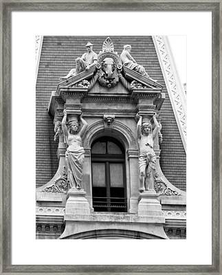 Philadelphia City Hall Window Framed Print by Bill Cannon