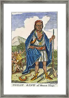 Philip Metacomet (d.1676) Framed Print