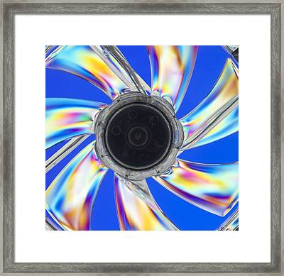 Photoelastic Stress Of A Cooling Fan Framed Print by Pasieka