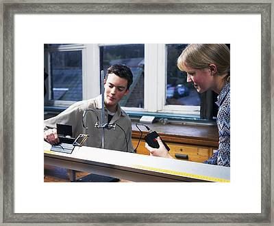 Physics Experiment Framed Print by Andrew Lambert Photography
