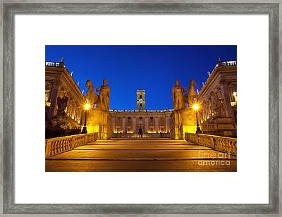 Piazza Campidoglio Framed Print by Brian Jannsen