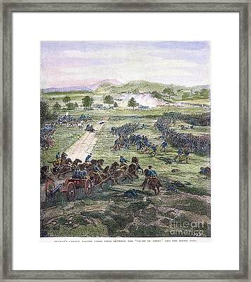 Picketts Charge, 1863 Framed Print