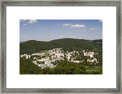 Picturesque Town Framed Print by David Buffington