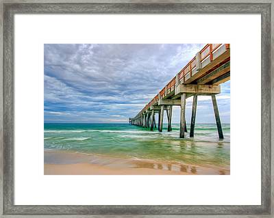 Pier  Framed Print by Anna Rumiantseva