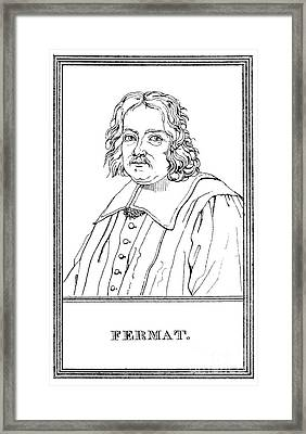 Pierre De Fermat, French Mathematician Framed Print by Science Source
