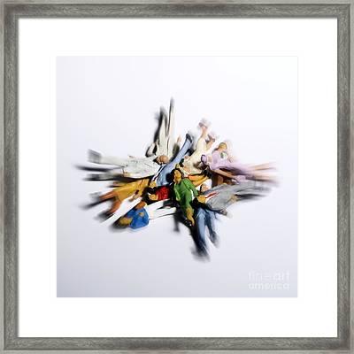 Pile Of Chestnuts Framed Print by Bernard Jaubert