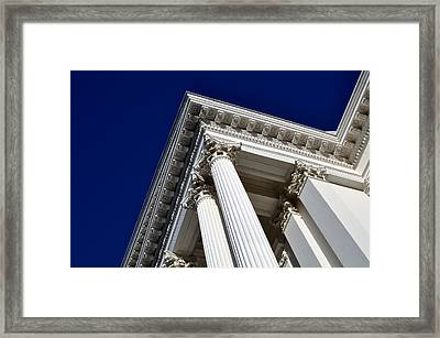 Pillar Of Success Framed Print by Brandon Bourdages