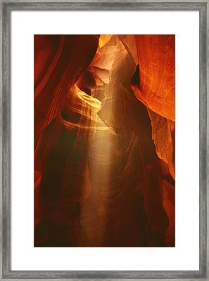 Pillars Of Light - Antelope Canyon Az Framed Print