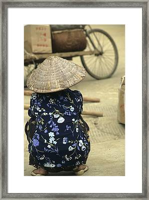 Pingxiang Street Scene, Hand Carts Framed Print by Raymond Gehman