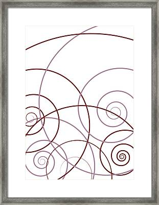Pink And Red Abstract Framed Print