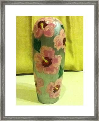 Pink Hibiscus Framed Print by Berta Barocio-Sullivan