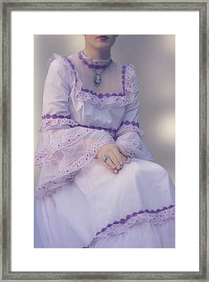 Pink Wedding Dress Framed Print by Joana Kruse