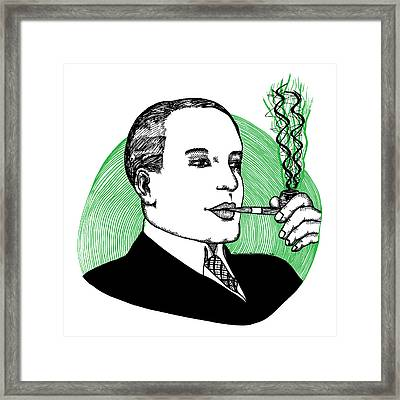 Pipe Smoking Framed Print by Karl Addison