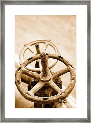 Pipeline Valves Framed Print by Gaspar Avila