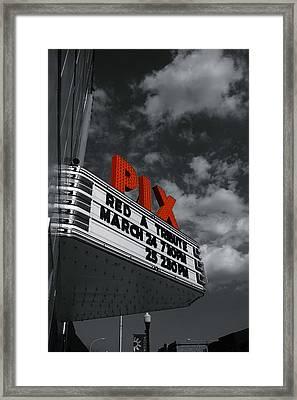 Pix Theatre Framed Print
