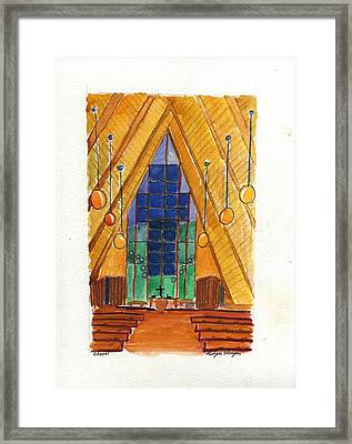 Placerville Chapel Framed Print by Rodger Ellingson