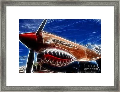 Plane Flying Tigers Framed Print by Paul Ward