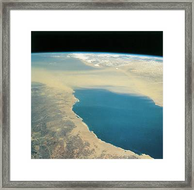 Planet Earth Viewed From Space Framed Print by Stockbyte