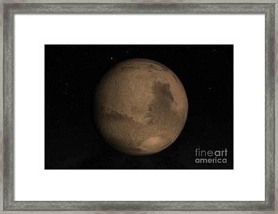 Planet Mars Framed Print by Stocktrek Images