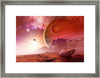 Planets In The Orion Nebula Framed Print by Detlev Van Ravenswaay