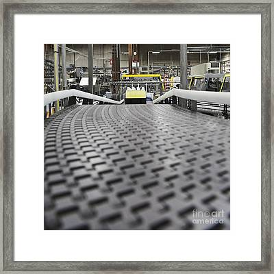 Plastic Bottles Of Yellow Liquid Framed Print by Jetta Productions, Inc
