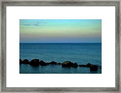 Playas De Noche Framed Print by Eire Cela