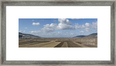 Plowed Agricultural Fields In The Beit Netofa Valley Framed Print by Noam Armonn