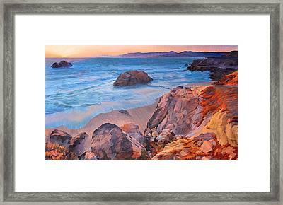 Point Lobos At San Francisco Framed Print