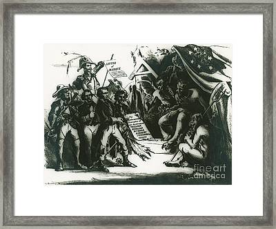 Political Cartoon Of The Confederacy Framed Print
