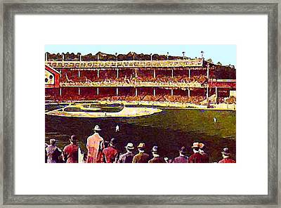 Polo Grounds In New York City 1920's Framed Print by Dwight Goss