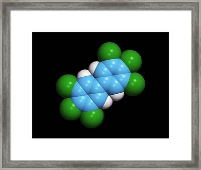 Polychlorinated Biphenyl Molecule Framed Print by Dr Tim Evans